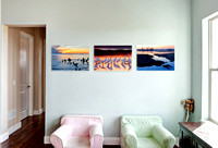 Three 30x20 in. Gallery Wraps, placed side by side.