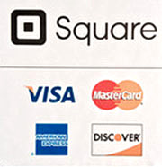 Credit cards accepted: Visa, MC, Disc, Amex