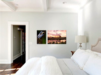 4- Paired 20x30 and 40x30 canvases in bedroom